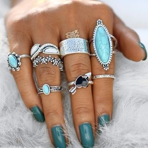 Jewelry - 🐚🦈Boho ring set🌴🐚